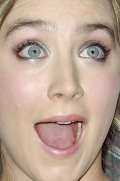 Saoirse Ronan Saoirse Ronan funny face makeup celebrity celebs celebritycloseup celebrities celeb