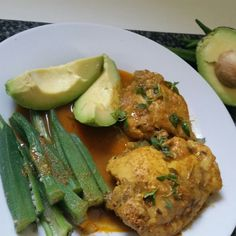 """grandmasoldtimecooking: """"Curry Chicken with Jamaican Pear and Okro Health benefits, Okro Promotes healthy pregnancy, Okro contains high levels of Vitamin A, Vitamins, (B1, B2, B6), and traces of Zinc and Calcium and makingnit, an ideal vegetable to..."""