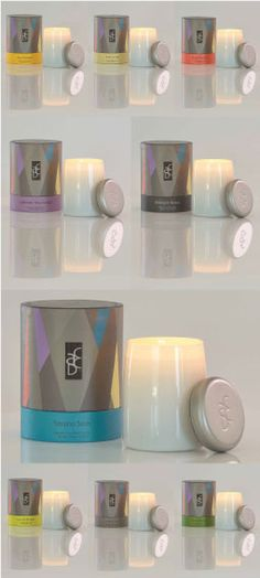 Love this modern geometric packaging from ACDC Fine Fragranced Candles.   www.aestheticcontent.com