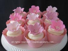 Pink Flower Cupcakes by Cupid Cupcakery by Cupid Cupcakery, via Flickr