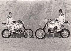 TEAM BMW MALBORO GASTON RAHIER & EDDY HAU - Paris Dakar 1985