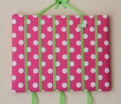 Ella -Bow Board Baby Girl Hair Clip Barrette Bow Holder Organizer Frame 11x14. $29.00, via Etsy.