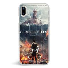 Attack On Titan Cover Movie Poster,iPhone X Case,Custom iPhone X Case,iPhone X