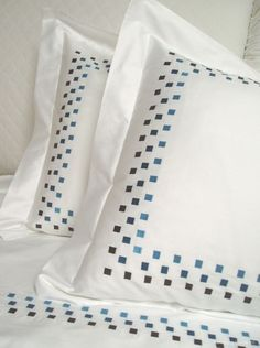 Blue Square Duvet #FrancineHomeCollection #FrancineMurnane #Duvet #Bedding #Luxury #Linens #Egyptian #Cotton #EgyptianCotton