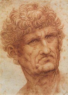 Head of a Man by Leonardo da Vinci #art
