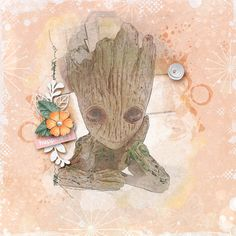 March 2018 -Sketch Photo Effect Challenge Little Sprouts, a Pickled Pairs Collab Kit Photo Effects, Sprouts, Scrapbook, Challenge, March, Sketch, Pairs, Painting, Kit