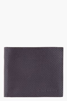 GIVENCHY Black Perforated Wallet