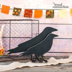 The Wood Connection - Crows Halloween Juice, Holidays Halloween, Halloween Decorations, Prim Decor, Butterfly Chair, Crows, Holiday Fun, Wood Crafts, Fall Decor