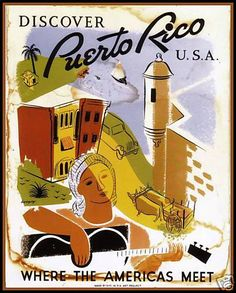 Vintage Puerto Rico #Travel Poster