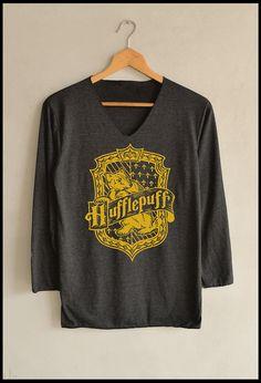 house yellow hufflepuff shirt harry potter shirts long sleeve unisex size s m l