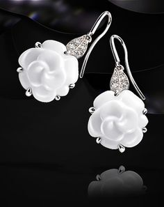 Chanel gorgeous earrings | More bling here: http://mylusciouslife.com/photo-galleries/bling-fling/