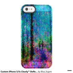 Custom iPhone 5/5s Clearly™ Deflector-Blue Woods Uncommon Clearly™ Deflector iPhone 5 Case