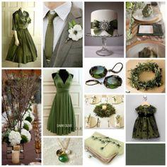 deep lichen green wedding inspiration, moss green wedding, olive green wedding, khaki wedding, dark green wedding