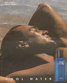 1997 Davidoff Cool Water Cologne ad. Why are wet men sexy?