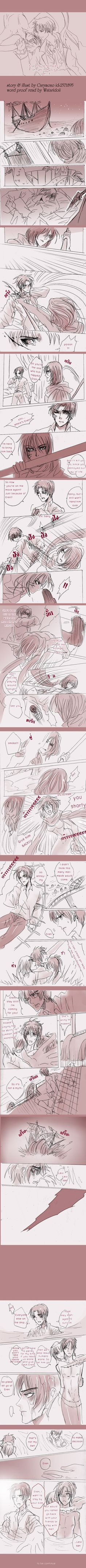 SnK'AU : Pirate!Levi x Mermaid!Eren part13 by illuscarymono.deviantart.com on @DeviantArt