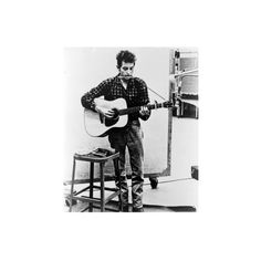 Bob Dylan Playing Guitar and Harmonica into Microphone. 1965 Photo (165 DKK) ❤ liked on Polyvore featuring home, home decor, collections, everett collection, other collections and subjects