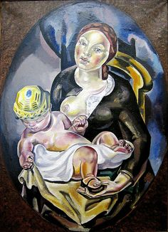 Blanchard, Maria (1881-1932) - 1924 Maternity (The Museum of Art and Industry of Roubaix, France)