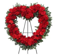 Eternal Love is just one of the many funeral floral arrangements available on Frazer Consultants' Tribute Store, an online flower store available on all Frazer-powered funeral home websites. #Red #Roses #Heart #Love #Flowers #FloralArrangement