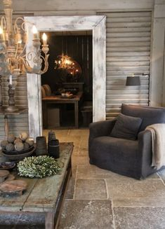 :: Havens South Designs :: here is what really rustic walls and limestone floors