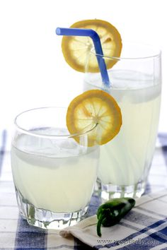 Jalapeno Lemonade - if you haven't - you must!   Fresh lemons, water, sugar, and one seeded jalapeno.  For extra fun add vodka.