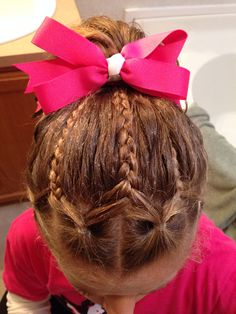 Kaylee's Cheer hair do October 2013