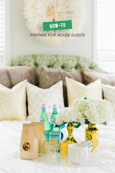 How to Prepare for House Guests | Photography: Rustic White - www.rusticwhite.com  Read More: http://www.stylemepretty.com/living/2014/06/13/how-to-prepare-for-house-guests/