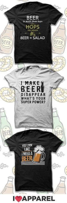 Buy Any 2 Items And Get FREE US Shipping. Check out our collection of beer shirts.