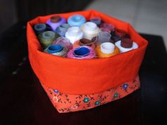 Cajita / cestita de tela   little fabric box, basket, bin   María Tenorio, Gineceo, 2015