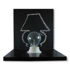 lamp chalkboard