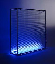 NANDA VIGO Diaframma 1968 Aluminium, glass and neon 100 x 100 x 20 cm 39 3/8 x 39 3/8 x 7 7/8 inches