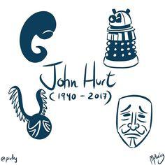 John Hurt In Memoriam : #WebcomicZ 028 : #ClipStudioPaint  #Cintiq  #: #webcomic #comics #comicdiario #dailycomic #comic #tebeo #illustration #draw #sketch #drawing #art #artistsoninstagram #dibujodiario #cute #adorable #digital #digitalpainting #digitalart : #DailySketch 759 #johnhurt #alien #doctorwho #dalek #harrypotter #vforvendetta