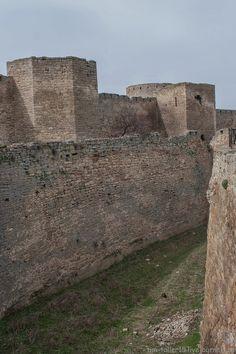 Two tiers of walls of Bilhorod-Dnistrovskyi fortress, Ukraine