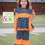 Gameday Prep Ava Pinafore Ruffle  Auburn Tigers Boutique Children's Clothing and Accessories perfect for football tailgating!