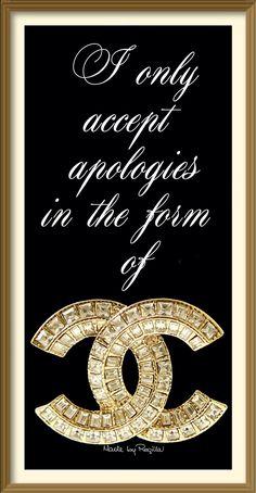 Regilla ⚜ Chanel apologies only...