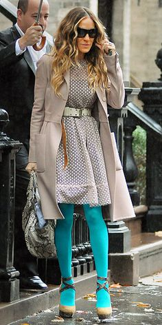 --- Sarah Jessica Parker - SATC - Carrie Bradshaw - set - sex and the city