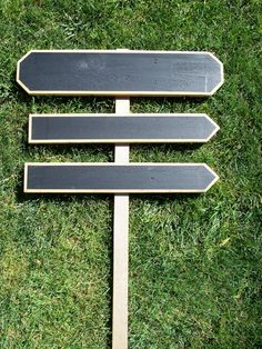DIY Wood Wedding Signs, Chalkboard Wedding Sign Kit, Wedding Arrow Signs, Use Outside or Indoors (I could do this myself)