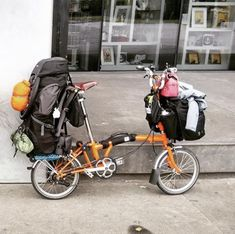 Learning to ride a bike is no big deal. Learning the best ways to keep your bike from breaking down can be just as simple. Foldable Bicycle, Folding Bicycle, Touring Bicycles, Touring Bike, Bikepacking Bags, Bike Photography, Push Bikes, Bicycle Maintenance, Cool Bike Accessories