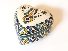 Moroccan ceramic jewelry box