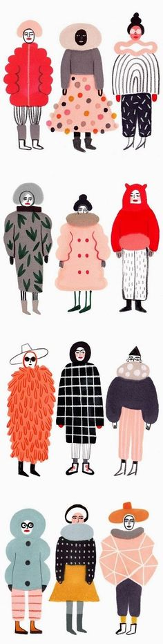 Illustrations by Ilka Meszely / On the blog!  https://www.electricturtles.com/collections