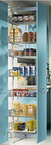 GedoTec® Hochschrank-Auszug Vollauszug Apotheker-Hochschrank mit 4 Einhängeböden | Frontauszug für Korpusbreite 400 mm | Korpushöhe 1200 - 1600 mm | KOMPLETT SET | Apothekerauszug mit Dämpfung | Markenqualität für Ihren Wohnbereich: Amazon.de: Baumarkt