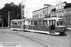 .Pętla tramwajowa przy Dworcu PKP. 3 lipca 1975 roku.  Copyright www.tog-billeder.dk