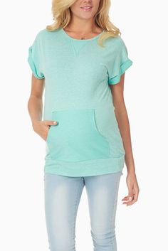 Aqau-Short-Sleeve-Maternity-Sweatshirt-Top #maternity #fashion