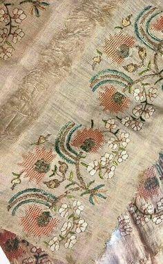 Vintage Embroidery, Hand Embroidery, Turkish Pattern, Dress Design Sketches, Greek Art, Knitting Needles, Handicraft, Needlepoint, Textiles