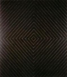 The black paintings 1959 frank stella black art for Frank stella peinture
