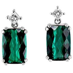 Beautiful #green #earrings by Bruce Owen Jewelry Design & Manufacturing