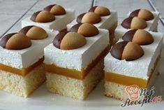 Fantastické vídeňské řezy | NejRecept.cz Sweet Recipes, Cake Recipes, Food Vans, Breakfast Snacks, Vanilla Cake, Cheesecake, Deserts, Food And Drink, Pudding