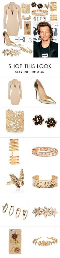 """""""The BRITs 2017."""" by nerdyhesc on Polyvore featuring Rare London, Christian Louboutin, Sole Society, Chantecler, Repossi, Van Cleef & Arpels, Accessorize, Alisa Michelle, Justin Bieber y Dorothy Perkins"""