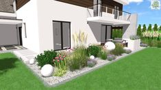 projekt ogrodu - wizualizacja 3D Gravel Landscaping, Japanese Garden Design, Garden Boxes, Back Gardens, Garden Paths, Beautiful Gardens, Landscape Design, Outdoor Living, Home And Garden