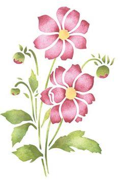 Rose Stencil Digital Illustration And Roses On Pinterest