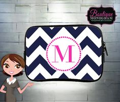 Custom Zippered Bag, Cosmetics Pouch, Pencil Case, Personalized and Monogrammed Small Bag on Etsy, $21.00